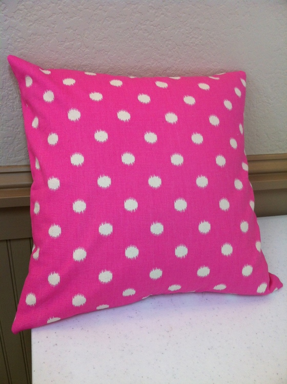 Another example of the Zippered Throw Pillow