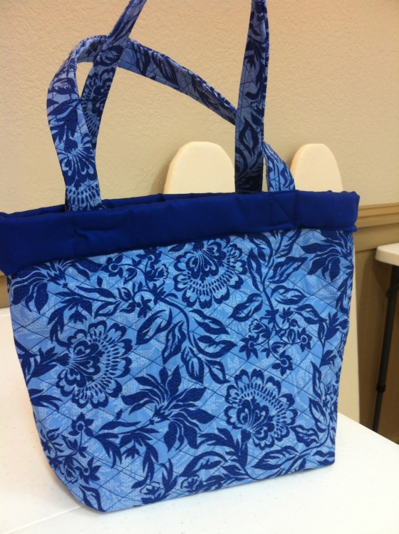 One of our Sewing 102 Projects is a tote bag, and this is a beautiful example made by one of our students