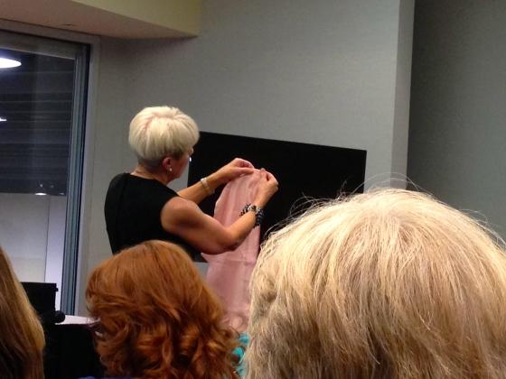 Cynthia Guffy teaching her style of shirt construction