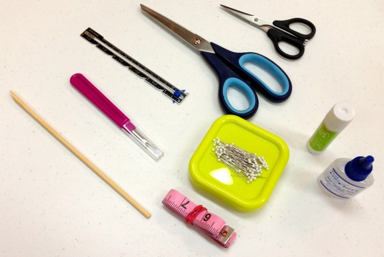 These are the tools we keep at every sewing machine for our students here at Golden Needles Studio.