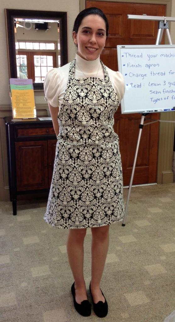 Miranda's pretty apron