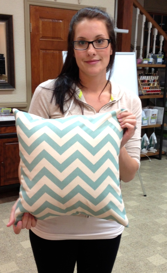 Andrea's chevron pillow