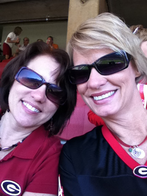 Me and Jill enjoying UGA football season