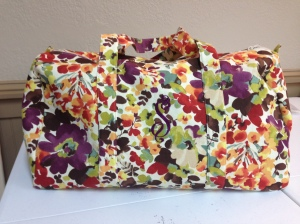 Isabel's duffle bag turned out beautiful!